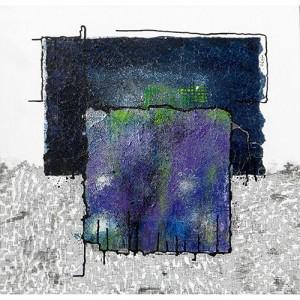 Géométrie grillagée Matière : papier, encre, feutre Dim. : 70 x 70 cm Année : 2013