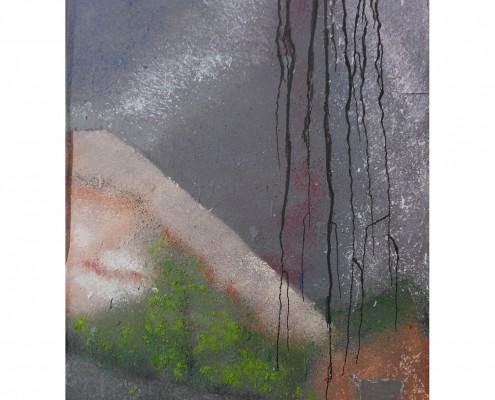 Falaises Matières : papier, sable, encre Dim. : 45 x 55 cm