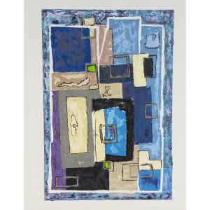 Cubisme Dim. :  50 x70 cm