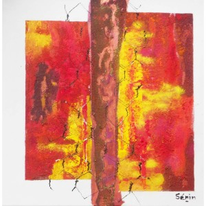 Impressions grillagées Dim. : 40 x 40 cm