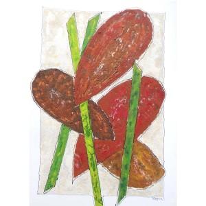Végétal Dim. :  50 x 70 cm