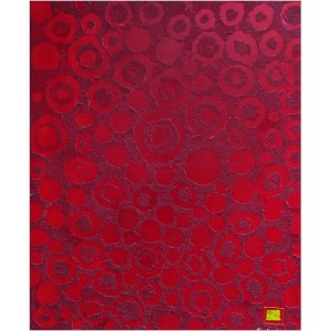 Motus rouge Dim. : 55 x 65 cm Mat. : sable, pigments, acrylique