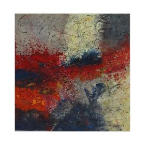Nébuleuses Dim. : 50 x 50 cm Mat. : sable, acrylique, pastels secs