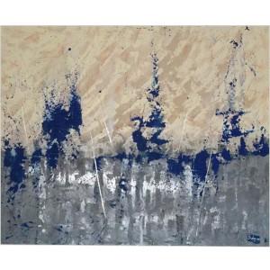 Armada Dim. : 80 x 100 cm Mat. : sable, pigments