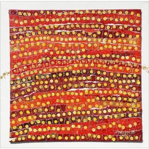 Artrythmies  Dim. : 30 x 30 cm Mat. : papiers, acrylique