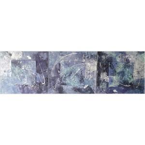 Ombres et lumières Dim. : 150 x 50 cm Mat. : sable, acrylique