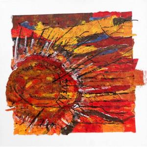 Chaque jour est renouveau Matières : papier, encre, renouveau Dim. : 80 x 80 cm