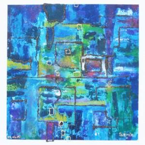 Nuances bleutées Dim. : 40 x 40 cm
