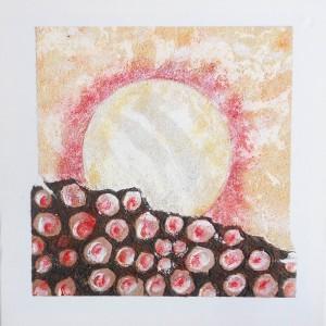Paysage lunaire Dim. : 40 x 40 cm