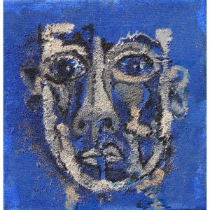 Portrait bleu Dim. : 20 x 20 cm