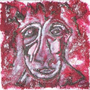 Portrait rouge Dim. :  20 x 20 cm