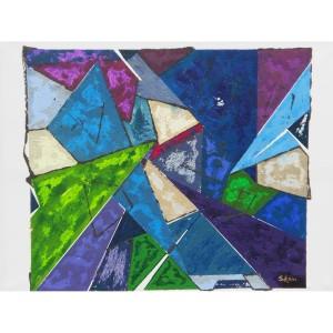 Triangles Dim. : 90 x 120 cm