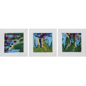 Trio Dim. : 20 x 60 cm