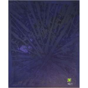 Motus violet Dim. : 45 x 55 cm Mat. : acrylique, pigments, sable savonné