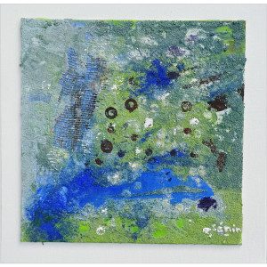 Terres azurées Dim. : 40 x 40 cm