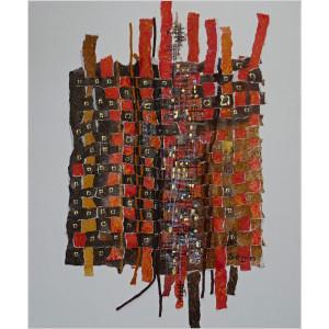 Métissages Dim. : 40 x 50 cm Mat. : papiers tramés, acrylique sur toile