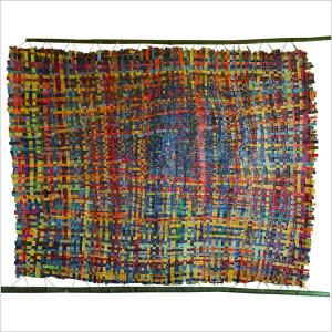 Métissages Dim. : 150 x 200 cm Mat. : papiers, cordes